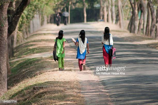 lets sunshine the nation ... - bangladeshi school girls stock photos and pictures