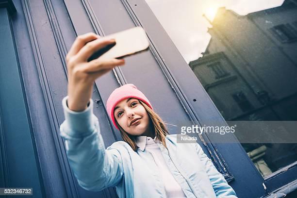 Vous permet de prendre un selfie