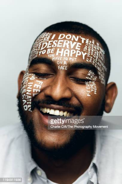 Lets Talk is a campaign that aims to spark millions of conversations about mental health By drawing peoples most difficult thoughts on their faces...