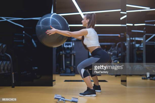 let's tighten those legs - yoga pants stock photos and pictures
