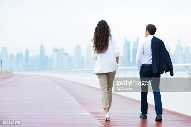 let's walk back to the office - jumeirah stock pictures, royalty-free photos & images