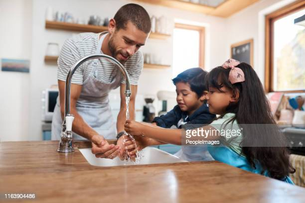 let's wash those germs away - handwashing stock pictures, royalty-free photos & images
