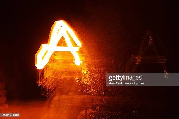 Letter A Made From Light Painting