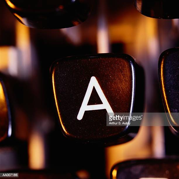 Letter A Typewriter Key