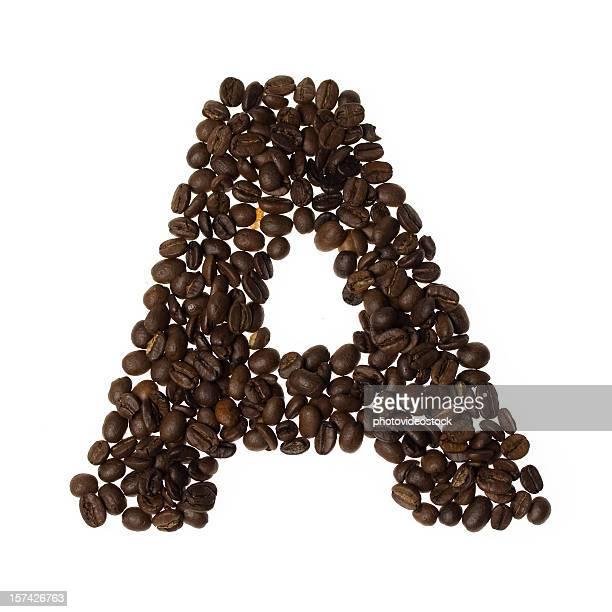 lettera scritta con caffè - lettera a foto e immagini stock