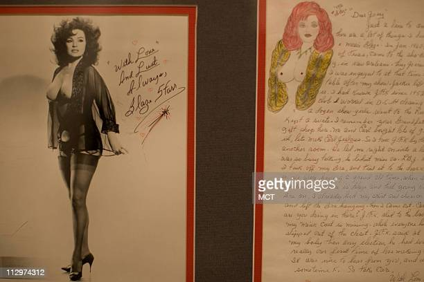 Letter and fan photo from stripper Blaze Starr in the memorabilia collection of Republican strategist Frank Luntz at his house in McLean Virginia...