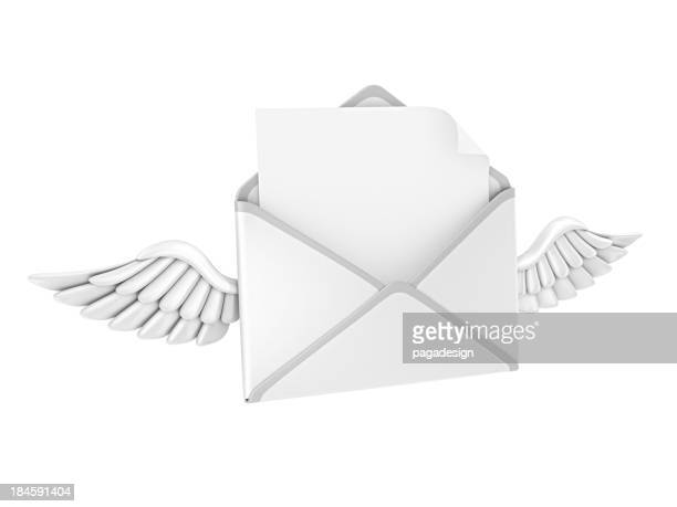 letter and wings