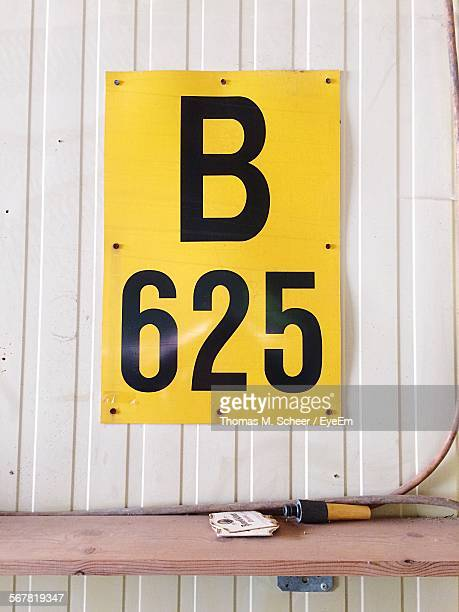 Letter B And Number 625 On Wall