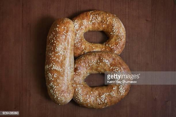 letter b - bread alphabet - letra b - fotografias e filmes do acervo