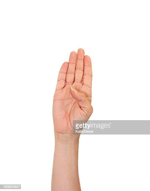 Letter B in American Sign Language