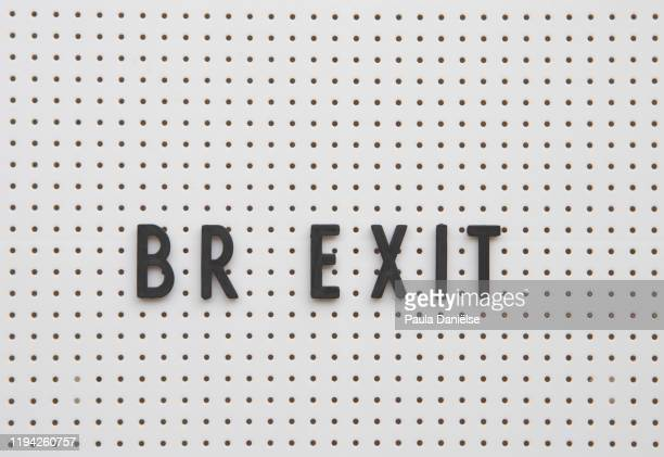 letter board with br exit on it. - prime minister stock pictures, royalty-free photos & images