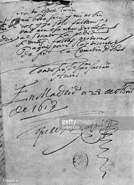 Letter by Lope de Vega with signature Dated 28 April 1913 Madrid Spanish playwright and poet 25 November 1562 – 27 August 1635