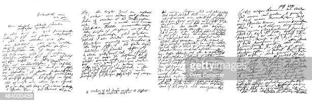 Letter by Ludwig von Beethoven 1817 A print from The Autograph Souvenir A collection of Autograph Letters Interesting Documents c Executed in...
