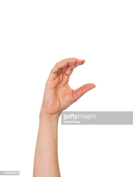 Letra C en lenguaje de signos norteamericano