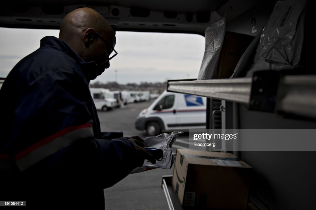 Operations At The United States Postal Service Facility During Holiday Season