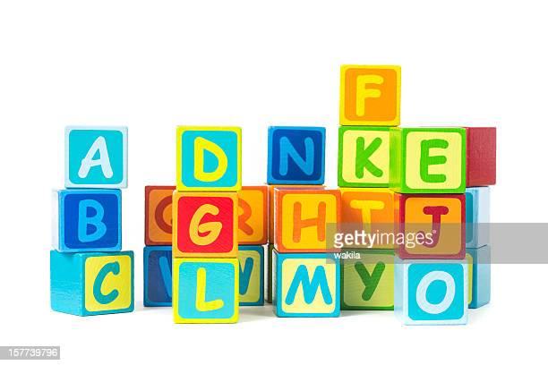 letter cubes - Buchstaben Klötze