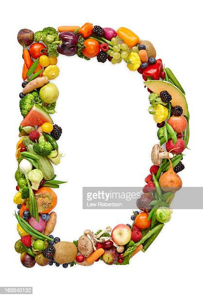 Letter D in produce