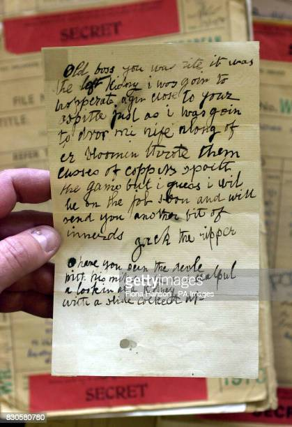 A letter dated 29 October 1888 written by a person claiming to be Jack the Ripper that was sent to Doctor Thomas Openshaw of the London Hospital...
