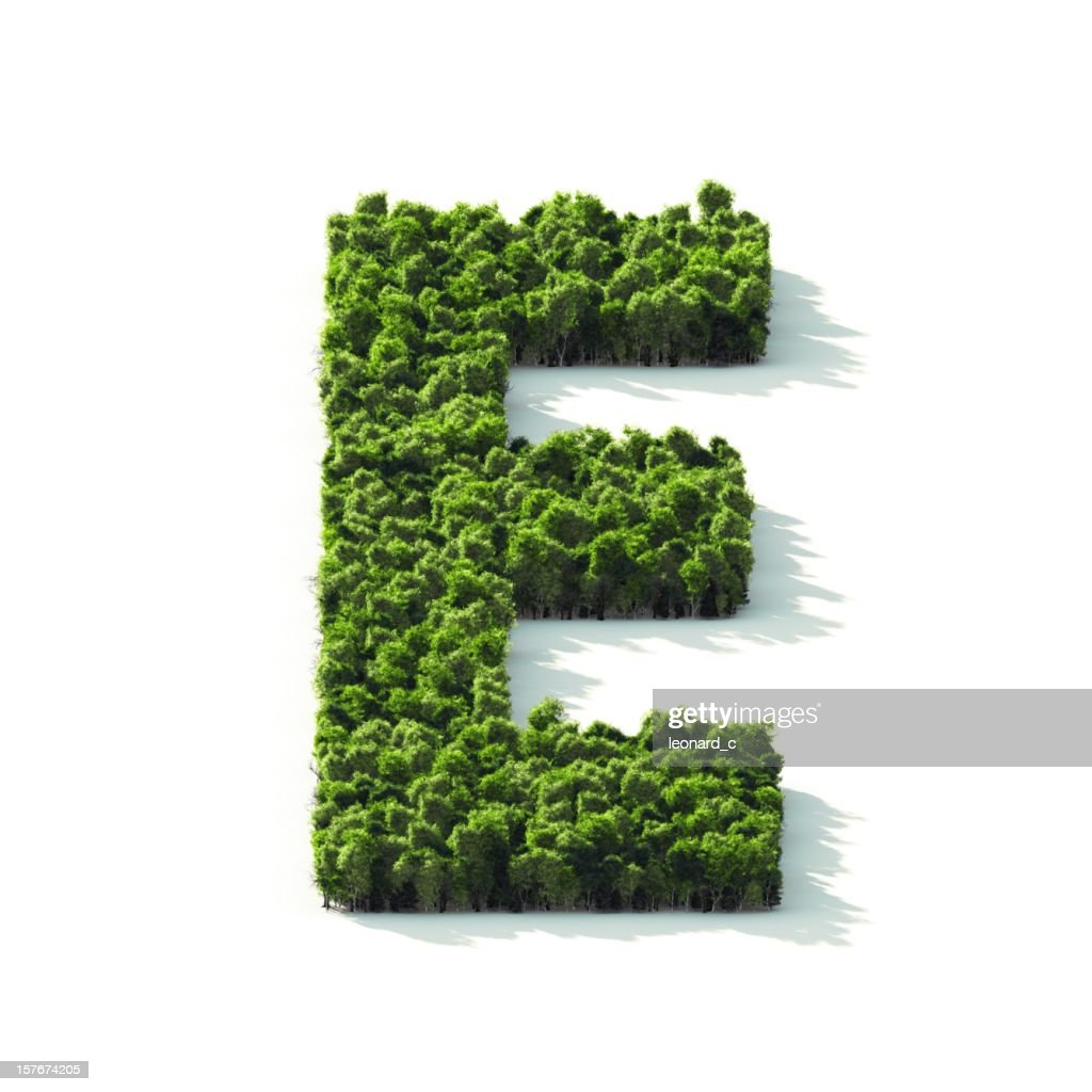 Letter E : Perspective View : Stockfoto