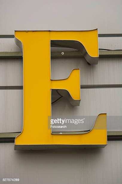 letter e - letra e - fotografias e filmes do acervo