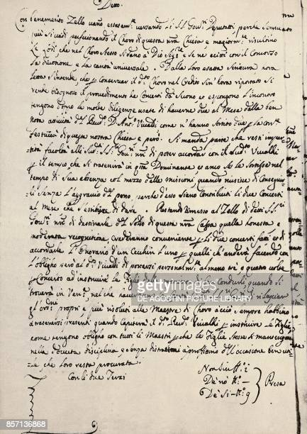 Letter for hiring of Antonio Vivaldi at the Ospedale della Pieta of Venice Italy 17th century