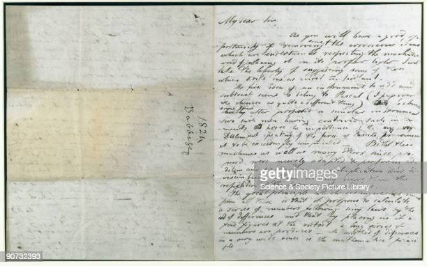 Letter from Charles Babbage pioneer of machine computing to Henry Colebrook mentioning �Pascal� possibly Blaise Pascal inventor of early calculating...