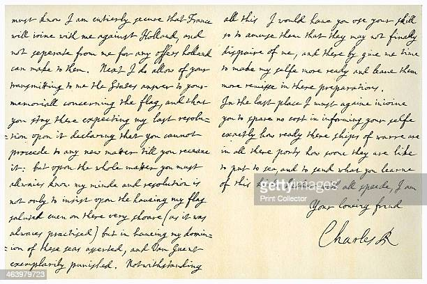 Letter from Charles II to Sir George Downing Ambassador at the Hague 16th January 1672 Letter written from Whitehall shortly before the outbreak of...