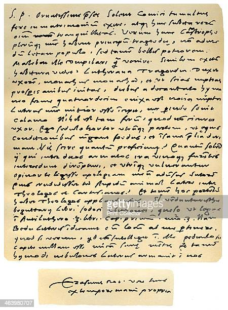 Letter from Desiderius Erasmus to Nicholas Everaerts 24th December 1525 Letter written in Latin from Basle by Erasmus to Dr Nicholas Everaerts...
