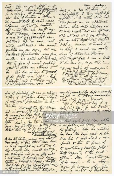 Letter from Elizabeth Barrett Browning to Henry F Chorley, September-October 1859. Letter written from Siena by Elizabeth Barrett Browning to Henry F...