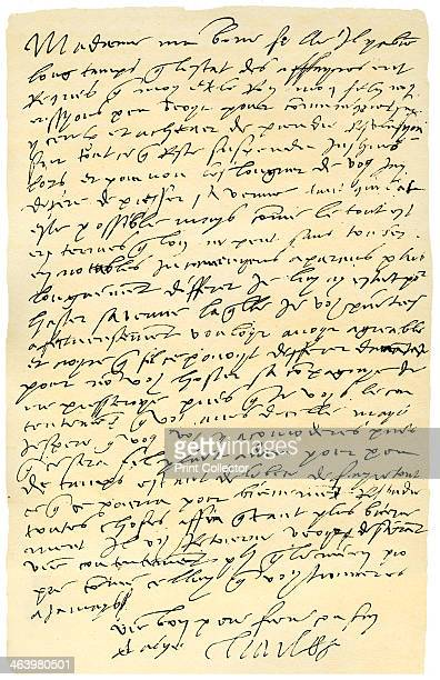 Letter from Emperor Charles V of Spain to Queen Mary of England 1555 Letter in French from Charles V to Mary I his daughterinlaw expressing the...