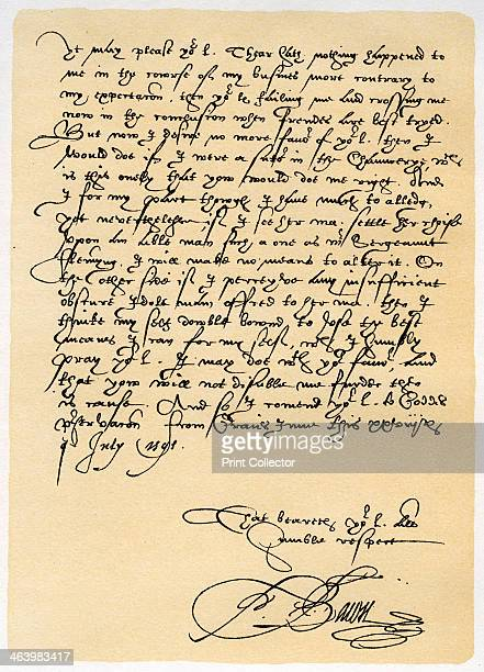 Letter from Francis Bacon to Sir John Puckering 28th July 1595 Letter from Francis Bacon Lord Verulam and Viscount StAlbans to Sir John Puckering...