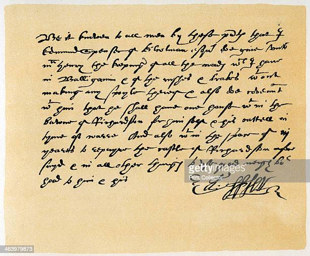 Letter from Grant as Edward Spenser to one McHenry c1589 Letter from Grant as Edward Spenser of Kilocolman Esquire to one McHenry of the custody of...