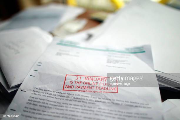 A letter from Her Majestys Revenue and Customs reminding of the date that selfassessment tax returns need to be completed by selfemployed companies...
