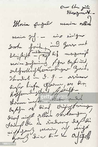 Letter From Ludwig Van Beethoven To The Immortal Beloved Now Widely Believed To Have Been Antonie Brentano Ludwig Van Beethoven 1770 To 1827 German...