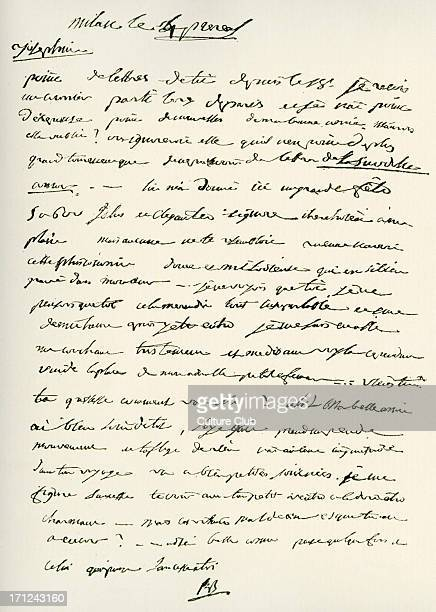 Letter from Napoleon Bonaparte to his first wife Joséphine de Beauharnais 23 May 1796 NB French military political leader 15 August 1769 15 May 1821