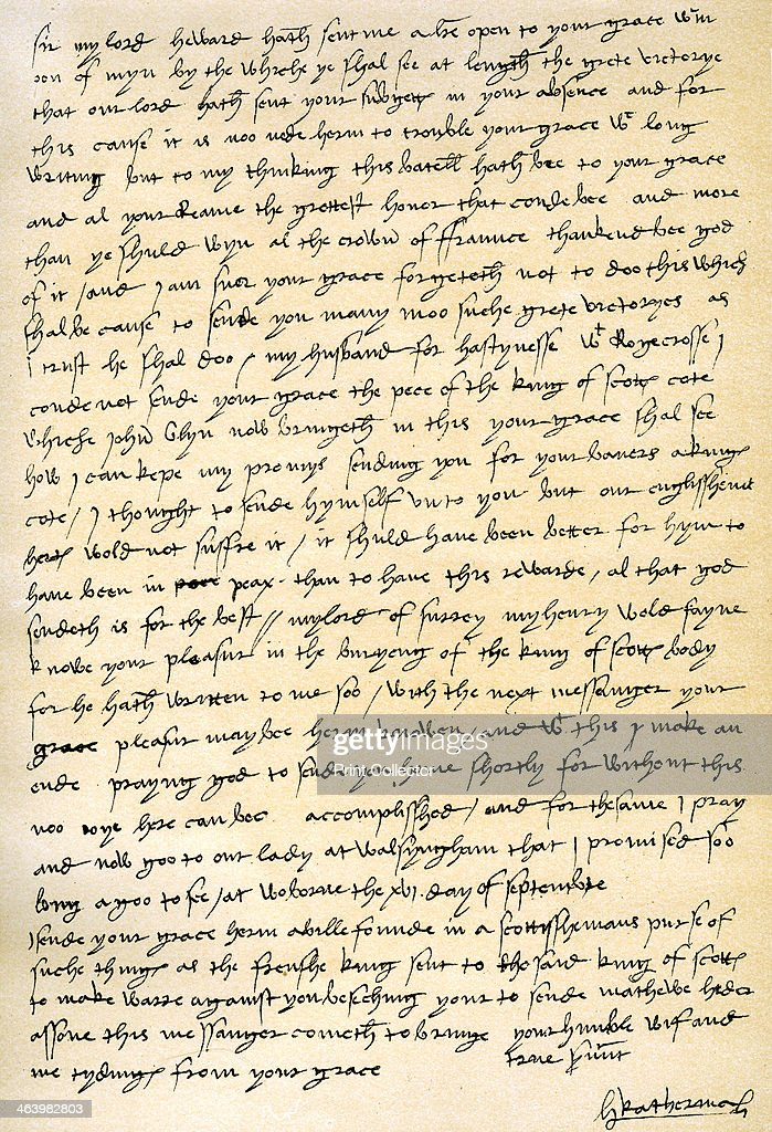 Letter from Queen Catherine of Aragon to her husband Henry VIII