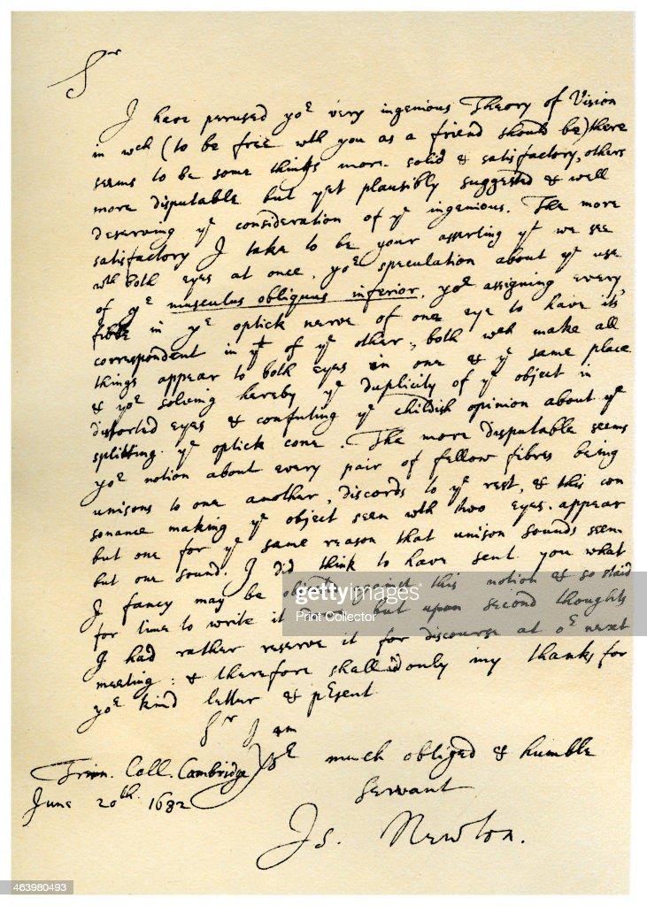 isaac newton robert hooke letter