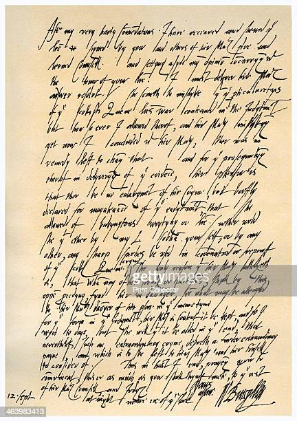 Letter from William Cecil to Sir Christopher Hatton Vice Chamberlain 12th September 1586 Letter from Sir William Cecil 1st Baron Burghley as one of...
