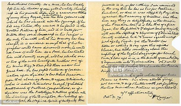 Letter from William Cowper to William Unwin 31st October 1779 Letter from Cowper to the Reverend William Unwin commenting on Dr Johnson's recently...