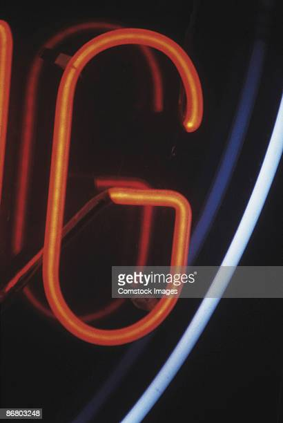 Letter G on neon sign