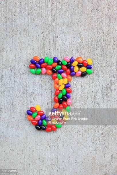 Letter J for Jellybeans