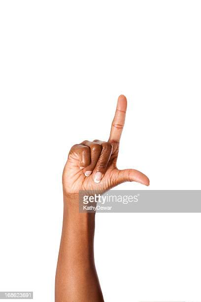 Letter L in American Sign Language