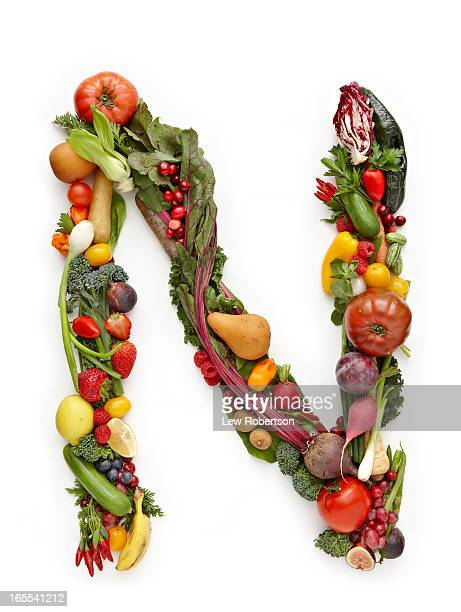 letter n in produce - letter n stock pictures, royalty-free photos & images