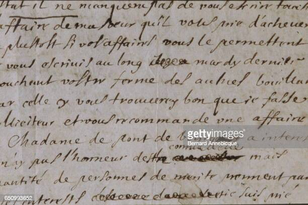 Letter of the most famous French fabulist and poet Jean de La Fontaine