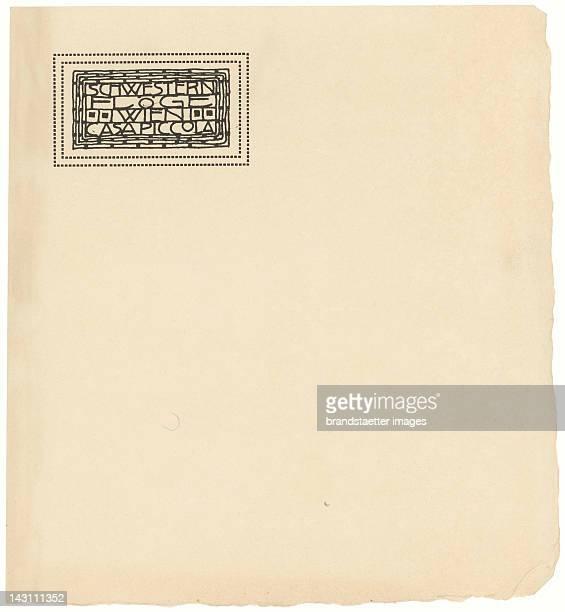 Letter Paper of the fashion house 'Schwestern Floege' Designed by Gustav Klimt 1904