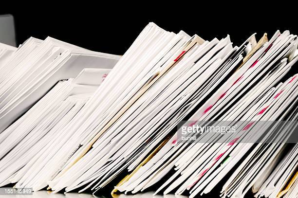 letter post with stacks of incoming and outgoing mail - mail stock pictures, royalty-free photos & images