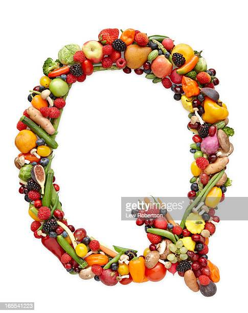Letter Q in produce
