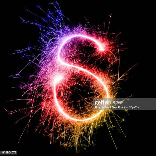 478499d95a Letter S Made By Multi Colored Sparklers At Night