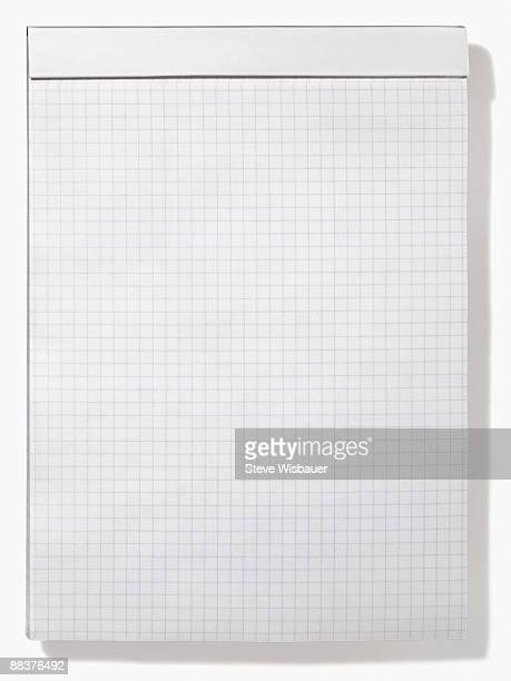 Letter size pad of graph or grid paper for math