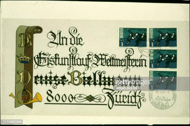 Letter to Denise Biellmann 1981